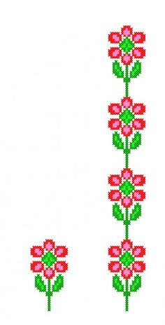 FL228 Cross Stitch Borders, Cross Stitch Flowers, Cross Stitching, Cross Stitch Patterns, Folk Embroidery, Knitting Charts, Christmas Cross, Hand Sewing, Diy And Crafts