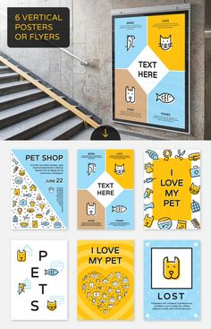 Pet Shop and Animal Shelter Bundle is a big collection of different line style elements, graphic backgrounds, advertisement and announcement templates. Animal Shelter Donations, Shelter Dogs, Cat Pet Shop, Banners, Pet Spa, Pet Hotel, Pet Store, Animal Design, Banner Design