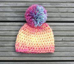 ON SALE Chunky Pom Pom Hat Winter Pom Pom Hat by KiransWorld, $8.00