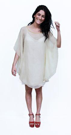 vestido - blusón de seda natural JULUNGGUL primavera-verano 2014. www.julunggul.com Silk dress, spring-summer 2014