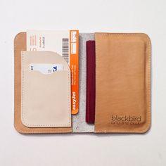 Blackbird Leather Passport Holder Now Available http://www.neatshopla.com/downloads/passport-holder-grey-leather-with-golden-triangles/
