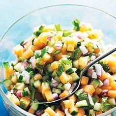 Melon Salsa Recipe | MyRecipes.com