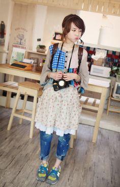Mori girl with Yama girl shoes ;D