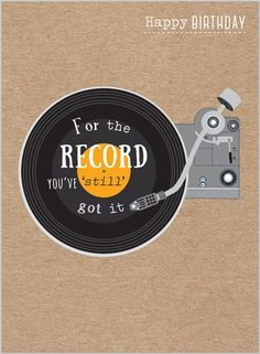 Everyday Ranges » M1516 » Retro Vinyl - Clare Maddicott Publications - Greeting cards, gift wrap & stationery