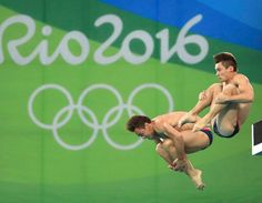 Thomas Daley (GBR) and Daniel Goodfellow (GBR) of United Kingdom compete in Men's Synchronised 10m Platform [REUTERS]