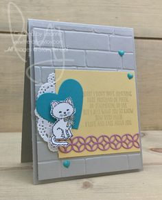 Kitty Cares   Stampin\' Up!   Here For You   Pretty Kitty #literallymyjoy #kitty #love #caring #kitten #sweetsugarplum #hearts #lace #20162017AnnualCatalog #20172018AnnualCatalog