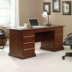 Sauder Desk Chair - Best Home Office Desk Executive Office Furniture, Home Office Furniture, Luxury Furniture, Office Computer Desk, Home Office Desks, Office Table, Office Nook, Desk Essentials, Pedestal Desk