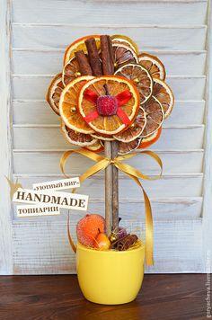 """Топиарий """"Фруктовый пай"""" - оранжевый,фруктовый топиарий,цитрусовый топиарий"""