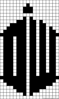 Doctor Who perler bead pattern<also for knitting graphs Pearler Bead Patterns, Bead Loom Patterns, Perler Patterns, Beading Patterns, Cross Stitch Patterns, Perler Beads, Cross Stitching, Cross Stitch Embroidery, Pixel Art