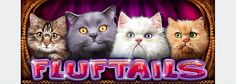 Cute fluffy cats are the new characters in Fluftails video slot game. graphic design and animation by O.K. Productions Ltd.