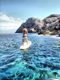 paddle board with the perfect view. no need for glass-bottom boat! #sweetview #SUP