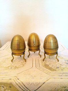 Vintage Brass Egg on Stand by VintageVarage on Etsy