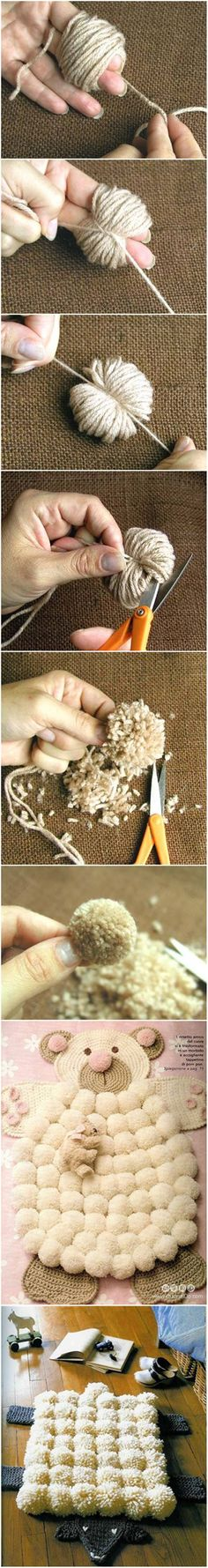 Creative Ideas - DIY Easy Pompoms with Your Own Fingers #craft #decor #pompom