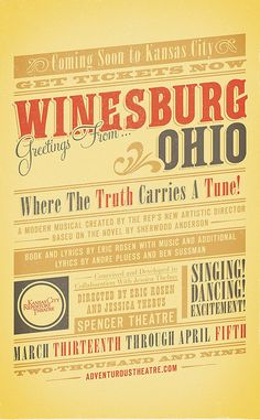 Winesburg Ohio Poster by Jordan Michael Gray