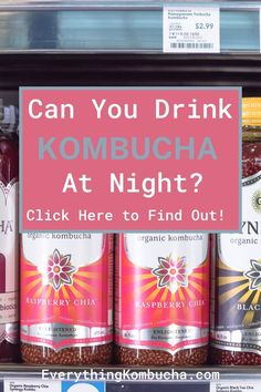 Because kombucha has caffeine in it, some people worry about whether or not they should drink it at night. Well it turns out that most people not only can drink kombucha at night, but actually should as it may be able to help you sleep better. Tap on the pin to read my article to learn more! #kombucha #sleeptips #healthtips #tea Kombucha Health Benefits, Organic Kombucha, Healthy Drinks, Caffeine, Health Tips, Drinking, Raspberry, How To Find Out