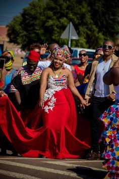 Discover recipes, home ideas, style inspiration and other ideas to try. African Print Wedding Dress, African Wedding Attire, African Print Dresses, African Print Fashion, African Attire, African Dress, Zulu Traditional Wedding Dresses, African Traditional Dresses, Venda Traditional Attire