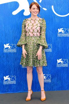 Venice Film Festival 2016's Best Red Carpet Moments - Emma Stone in a lace