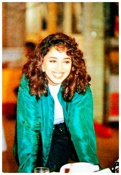 Madhuri Dixit and her dazzling smile.