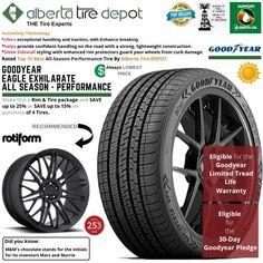 Goodyear EAGLE EXHILARATE All Season Performance Tire 275/30ZR20 XL 97Y Rotiform Wheels Goodyear Eagle, Service Map, Performance Tyres, Wheels, Seasons, Seasons Of The Year