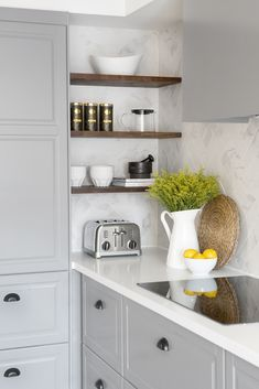 Maximize unused wall space with simple open shelving