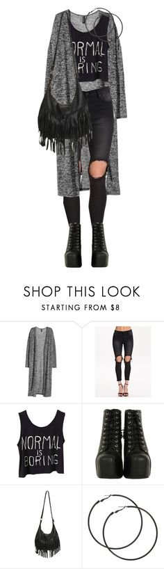 """My#Style"" by mane-style ❤ liked on Polyvore featuring H&M, UNIF, Jeffrey Campbell and Wet Seal"