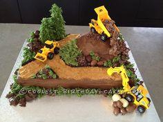 Cupcakes cakes children 39 s on pinterest dinosaur for Digger cake template