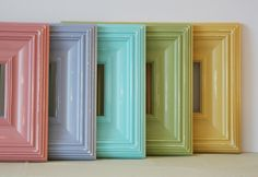 8x8 Picture Frame / Whistler Style in Five Bright Finishes. $34.99, via Etsy. Pretty pretty