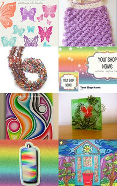 Rainbows and butterflies by Maya Wade--Pinned with TreasuryPin.com