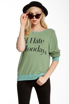 I Hate Mondays Baggy Beach Jumper by WILDFOX on @HauteLook