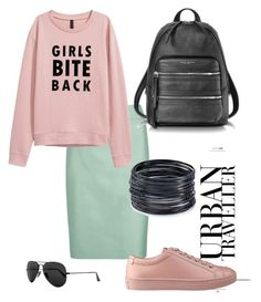 10 ways to wear a mint skirt. No.3 by lionfishka on Polyvore featuring polyvore, мода, style, Armani Collezioni, GUESS, Marc Jacobs, ABS by Allen Schwartz, Ray-Ban, fashion and clothing