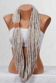 STONE Scarf. Autumn scarf. Winter scarf. Circle Fall scarf. Loop scarf. Neckwarmer. on Etsy, $19.90