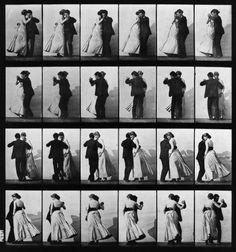 Animal Locomotion; Plate 197 (Couple Dancing) by EadweardMuybridge