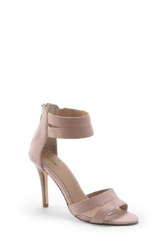 Suede Strappy Heeled Sandal