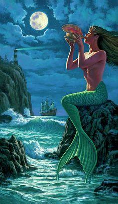 Mermaid Images, Mermaid Pictures, Fantasy Mermaids, Mermaids And Mermen, Real Mermaids, Mermaid Artwork, Mermaid Paintings, Siren Mermaid, Mermaid On Rock
