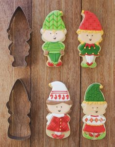Christmas Elf Cookie Cutter and Stencil Sets | Klickitat Street