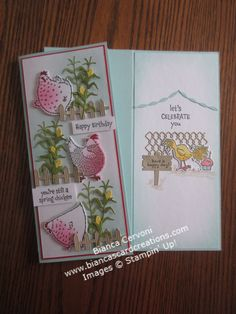 Have A Happy Day, Are You Happy, Birthday Cards, Happy Birthday, Spring Chicken, Chickens And Roosters, Stampin Up Catalog, Bird Cards, Stamping Up Cards