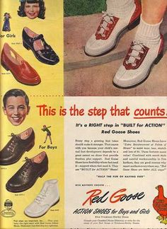 Vintage Red Goose Shoes ad