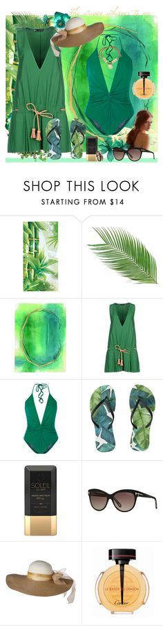 """""""The waves whisper to me"""" by julyralewis ❤ liked on Polyvore featuring Home Decorators Collection, Dsquared2, ADRIANA DEGREAS, Soleil Toujours, Tom Ford and Cartier"""