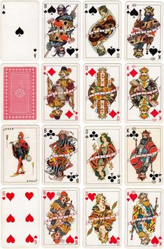 Non-standard playing cards produced by De la Rue & Co. (London), c.1930s