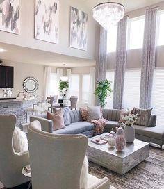 Glam Living Room, Living Room Decor Cozy, Elegant Living Room, New Living Room, Formal Living Rooms, Living Room Sets, Living Room Modern, Living Room Designs, Elegant Dining