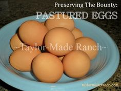 Easier Peeling of VERY Fresh Eggs #TaylorMadeRanch