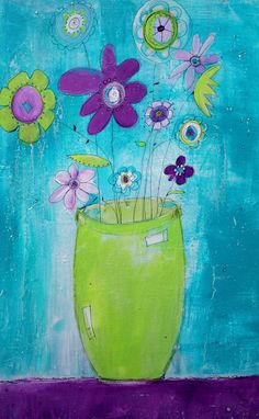 Hello Spring...I'm ready for you :)    Mary Mary How Does Your Funky Flowers Grow  by SweetRepeatsStudio, $210.00