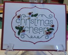 Cheerful Christmas stampin up