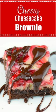Cherry Cheesecake Brownies – Flavor Mosaic A brownie topped with a cheesecake layer swirled with cherries. via Flavor Mosaic