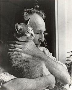 choreographer George Balanchine (Mr. B) and his cat Mourka