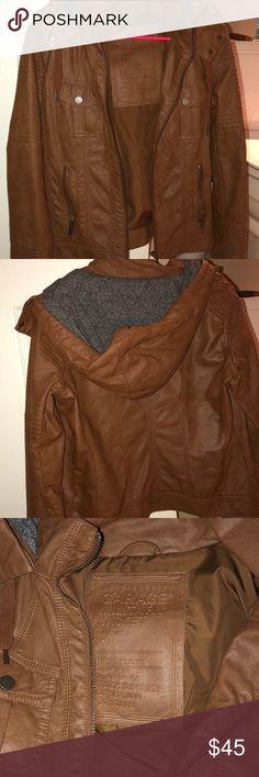 Garage faux leather jacket Cute fall/spring jacket  Worn very few times Garage Jackets & Coats