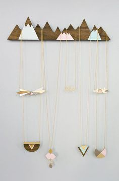 Mountains Jewelry Display organizer hanger