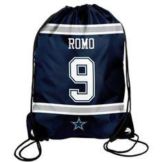 TONY ROMO DALLAS COWBOYS PLAYER NAVY BLUE DRAWSTRING BACKPACK $7.99