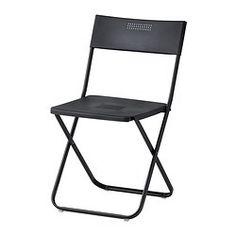 FEJAN Chair, outdoor - folding black, - - IKEA
