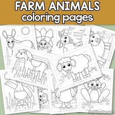 Free Farm Animals Coloring Pages for Kids